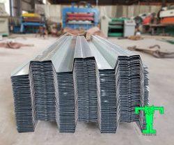 Tấm sàn deck dùng để đổ bê tông, Vật liệu tôn cách nhiệt này có thể thay thế coppha và không cần cột chống