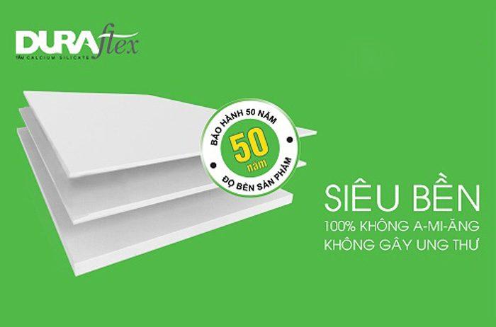 Tấm trần Cemboard Duraflex dày 4.5mm siêu bền và đặc biệt không chứa chất gây hại cho sức khỏe