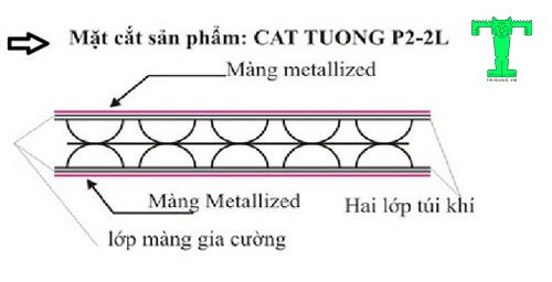 Cấu tạo của tấm Cát Tường P2- 2L