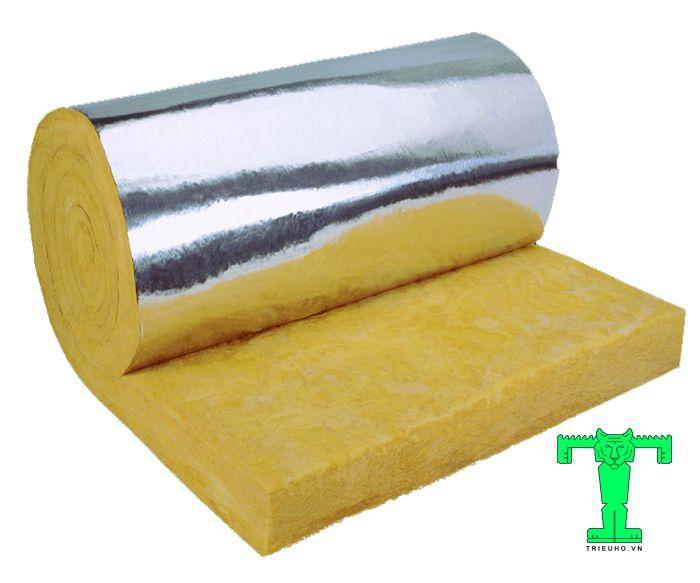 Bông thủy tinh dày 50mm được cấu thành từ hai lớp rời nhau nhưng lại được liên kết với nhau bằng 1 loại keo chống dính vô cùng chắc chắn