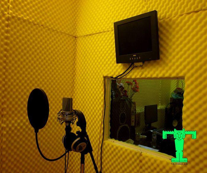 Mút tiêu âm được sử dụng nhiều trong các phòng thu, phòng hát, hội trường...