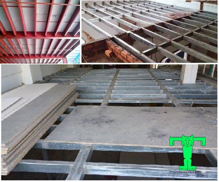 Thi công tấm sàn Cemboard cho công trình nhà khung sắt rất đơn giản nhưng cần làm theo các bước bài bản dưới đây