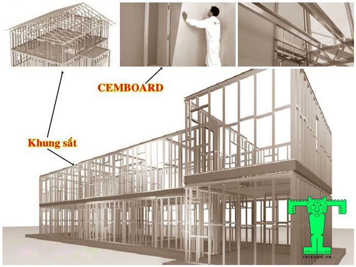 Thi công tấm vách Cemboard cần chú ý đến cách chọn loại khung sắt