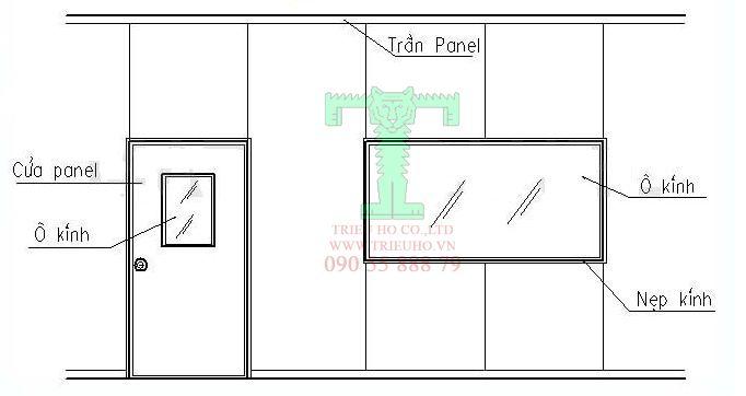 Thi công cửa panel 2 cánh, cửa lùa