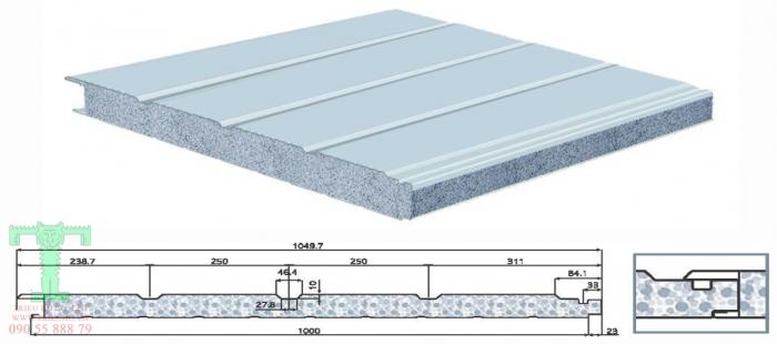 cấu tạo panel dạng sóng