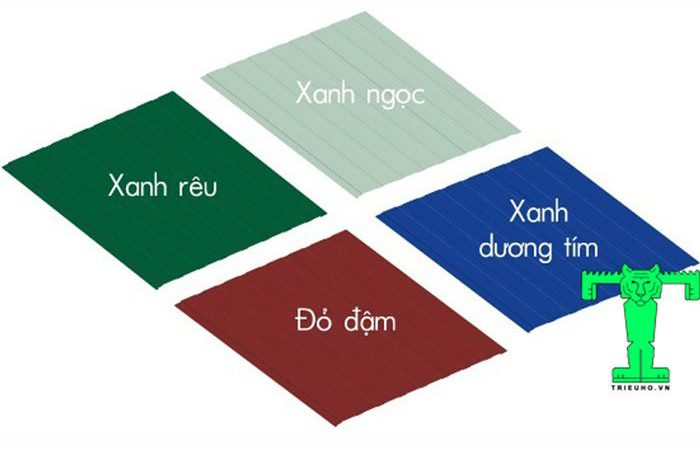Tôn cách nhiệt Đông Á 3 lớp: tôn nền dày 0.50mm + PU + giấy bạc có nhiều màu sắc cho bạn lựa chọn
