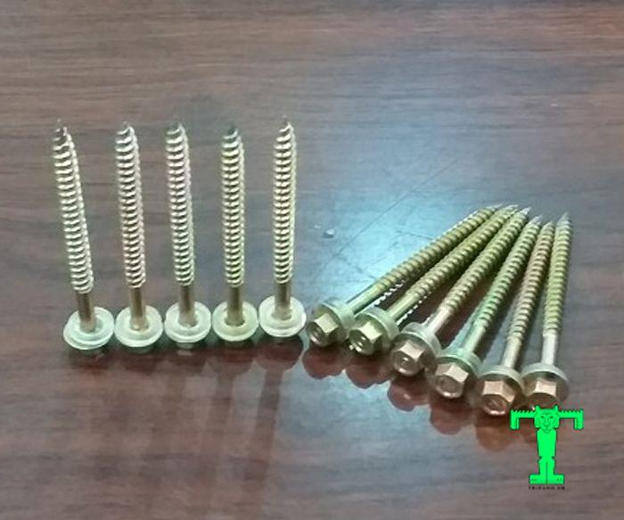 Vít bắn tôn dài 60mm làm từ thép không gỉ nên rất bền, đẹp, dễ dàng thi công, dễ thay thế