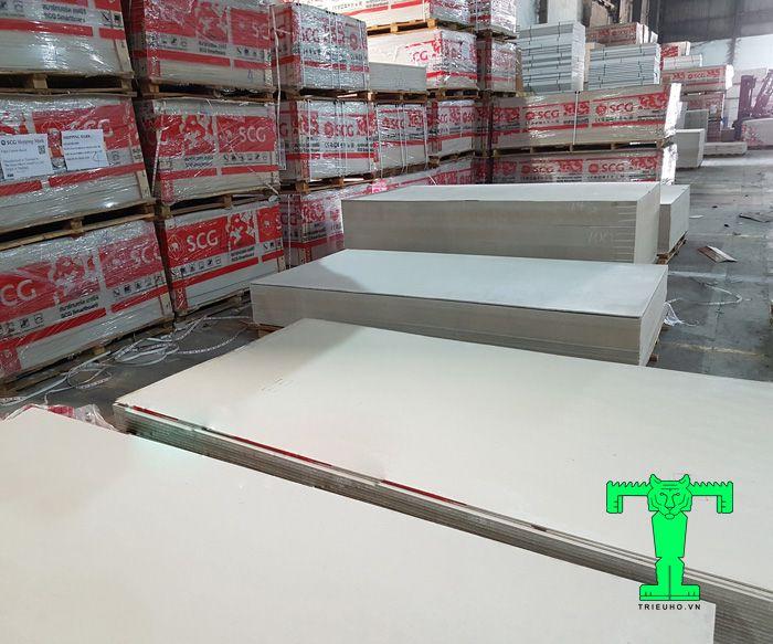 Tấm xi măng Cemboard Thái Lan dày 3.5mm cách âm, cách nhiệt, chống ồn, chống nóng, chống cháy tốt