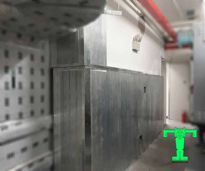 Tấm panel tiêu âm Rockwool tôn nền dày 0.45mm + Rockwool 75mm 100kg/m3 + tôn 0.45mm