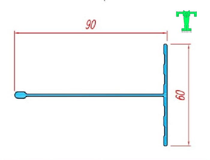 Cấu tạo của phụ kiện tấm panel trần thanh nhôm T60x90mm