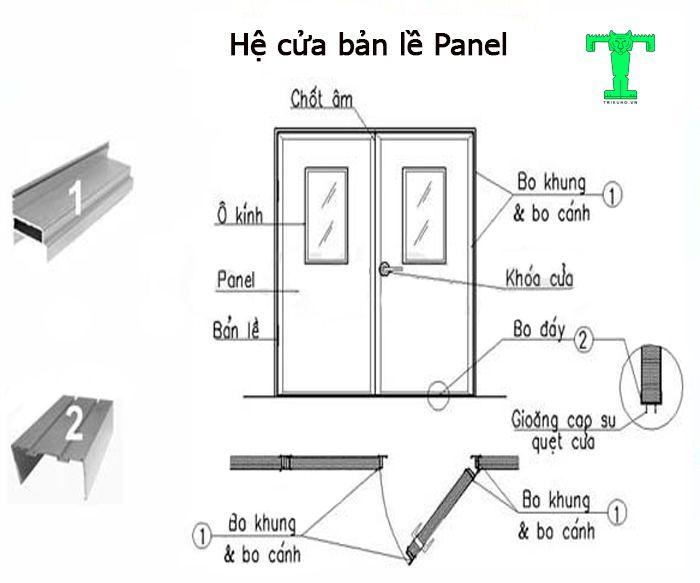 Cửa bản lề Panel bao gồm rất nhiều phụ kiện và phụ kiện nào cũng cần thiết