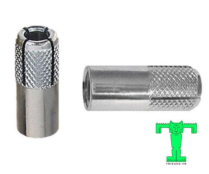 Tắc kê đạn M10 hình trụ rỗng có ren ở giữa. Nó có kích thước lỗ là 10mm (M10)