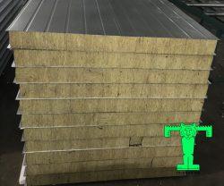Panel lò sấy Rockwool 3 lớp tôn nền dày 0.55mm mạ màu + Rockwool 50mm 100kg/m3 + tôn 0.70mm mạ kẽm