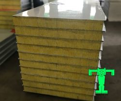 Tấm Panel Glasswool 3 lớp tôn nền dày 0.40mm + Glasswool 100mm 64kg/m3 + tôn 0.40mm