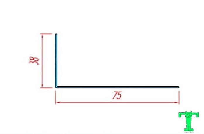 Cấu tạo của thanh nhôm L38x75mm