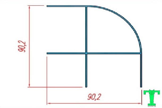 Cấu tạo của thanh nhôm trụ góc dùng cho vách panel