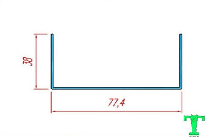 Cấu tạo của thanh nhôm U75mm