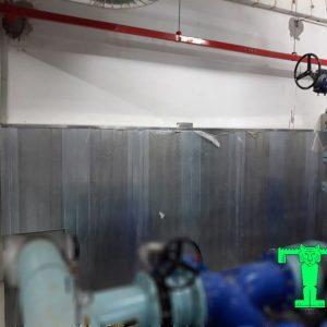 panel tiêu âm Rockwool tôn nền dày 0.45mm + Rockwool 50mm 100kg/m3 + tôn 0.45mm
