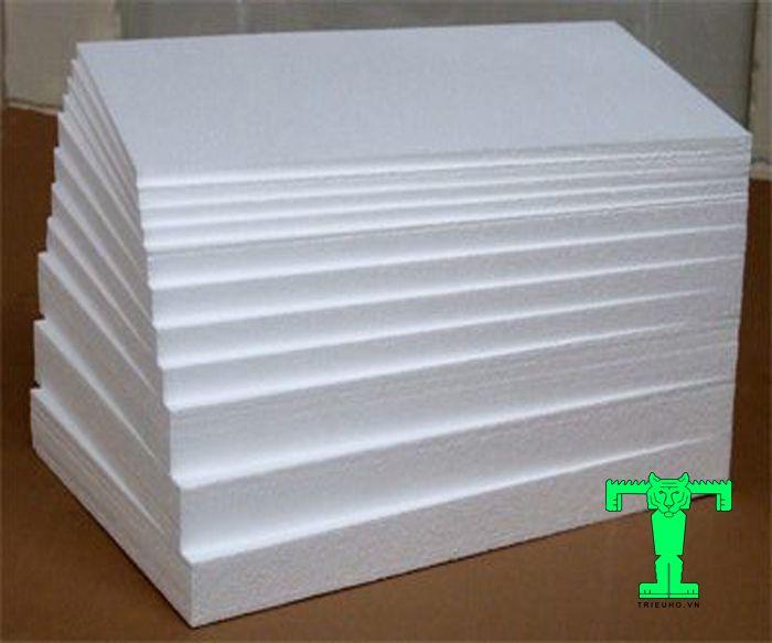 Tấm xốp EPS tỷ trọng 6kg/m3 được làm từ hạt Expandable PolyStyrene EPS resin cao cấp