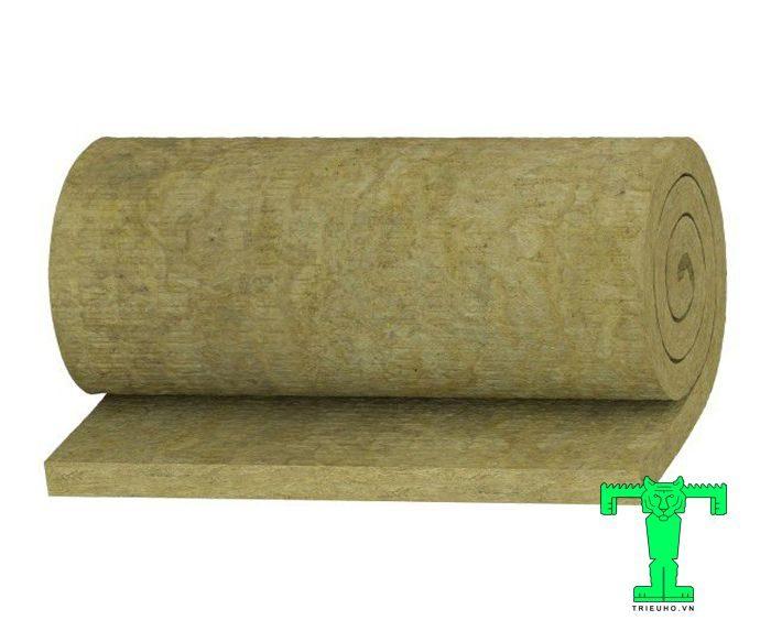 Bông khoáng Rock wool dạng cuộn không có lưới