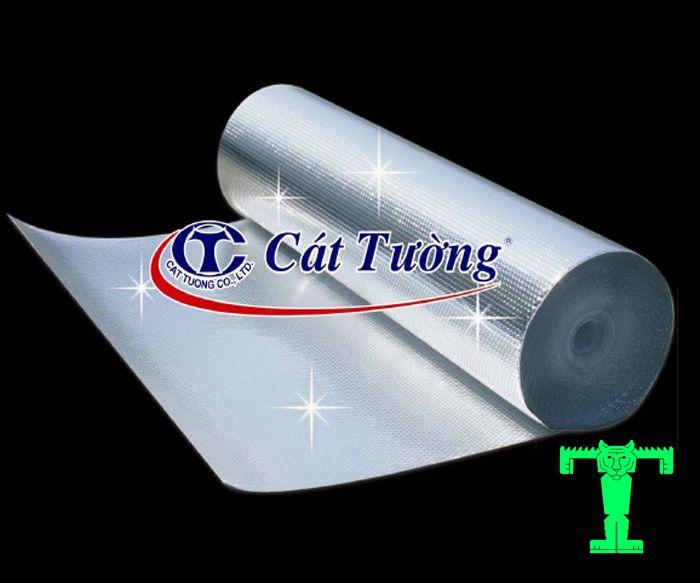 Tấm cách nhiệt Cát Tường A2-2L có cấu tạo đặc biệt hơn. Đó là có 2 lớp bên ngoài là 2 lớp màng nhôm nguyên chất và 2 lớp túi nhựa khí ở giữa
