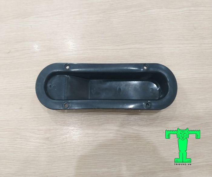 Phụ kiện tấm panel cách nhiệt cửa trượt tay nắm nhựa đen âm cửa
