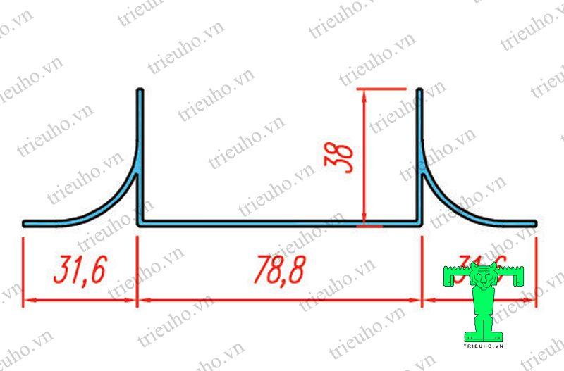Cấu tạo Thanh nhôm U75 cánh đôi sử dụng cho vách Panel dày 75mm