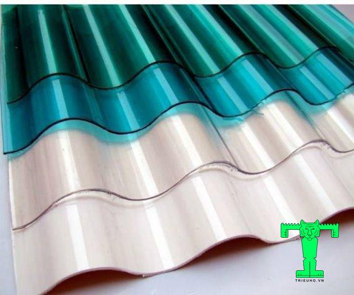 Màu sắc của tấm lấy sáng Polycarbonate dạng 6 sóng khá đa dạng nên bạn dễ dàng lựa chọn