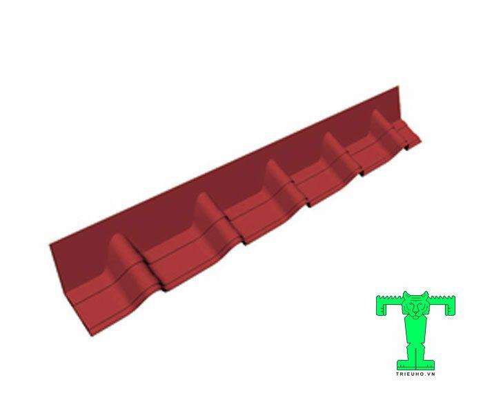 Tấm nối đỉnh mái ngói Onduvilla có nhiệm vụ ngăn triệt để các hiện tượng hất nước mưa.