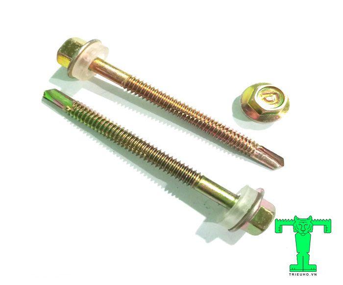 Vít bắn tôn dài 75 mm thường dùng cho các công trình có tấm lợp dày 65mm-55mm