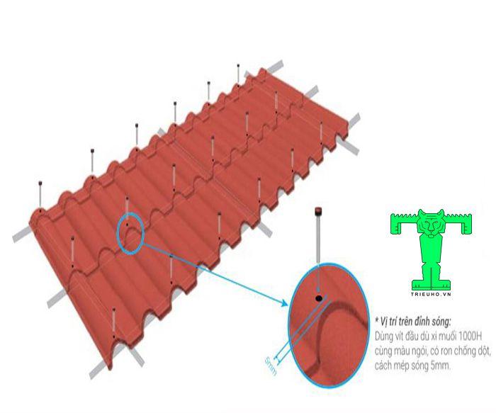 Hướng dẫn lắp đặt ngói thép phủ đá chuẩn kỹ thuật từ khâu bắn đinh vít