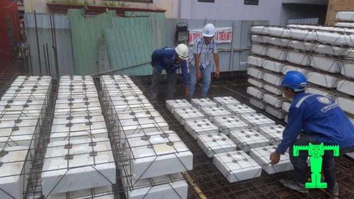 Ứng dụng của xốp EPS dùng để đổ sàn bê tông trong xây dựng công trình lớn