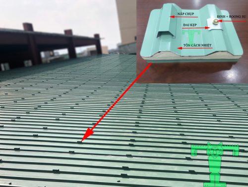 đai kẹp và nắp chụp tôn cách nhiệt chống nóng