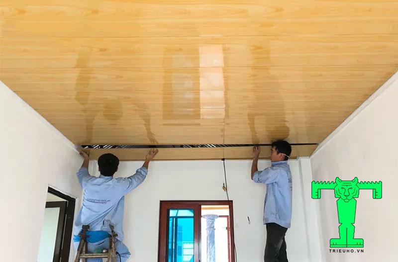 la phông trần nhà tôn 3 lớp bóng bẩy