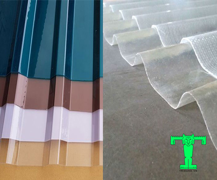 tôn nhựa lấy sáng
