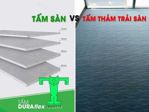 Phân biệt tấm sàn và tấm thảm trải sàn