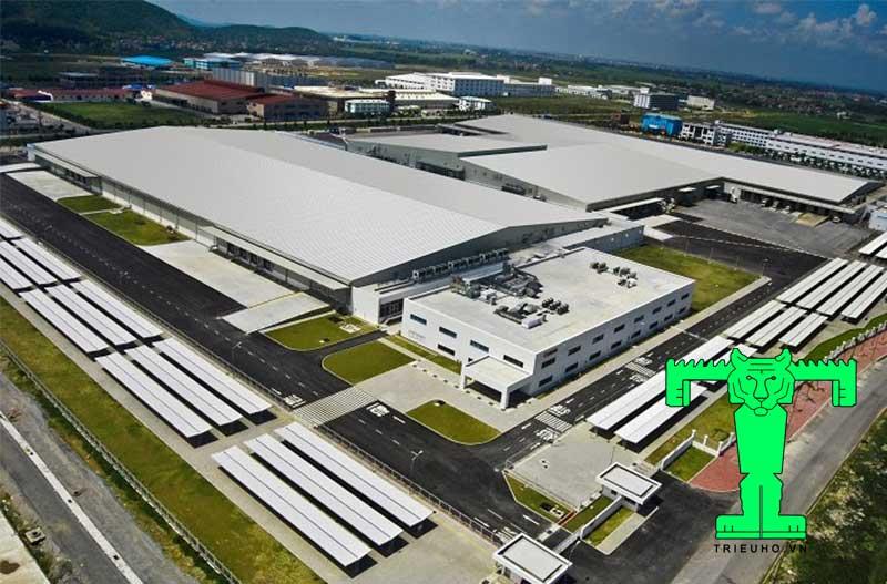 Mẫu mái tôn nhà xưởng công ty Sam Sung