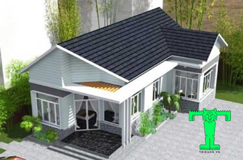 Mẫu nhà mái tôn chống nóng cấp 4 đẹp