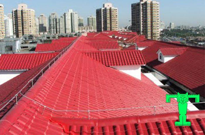 Ngói nhựa PVC lợp nhà máy