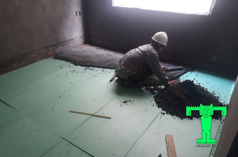 Thi công xốp XPS cho sàn