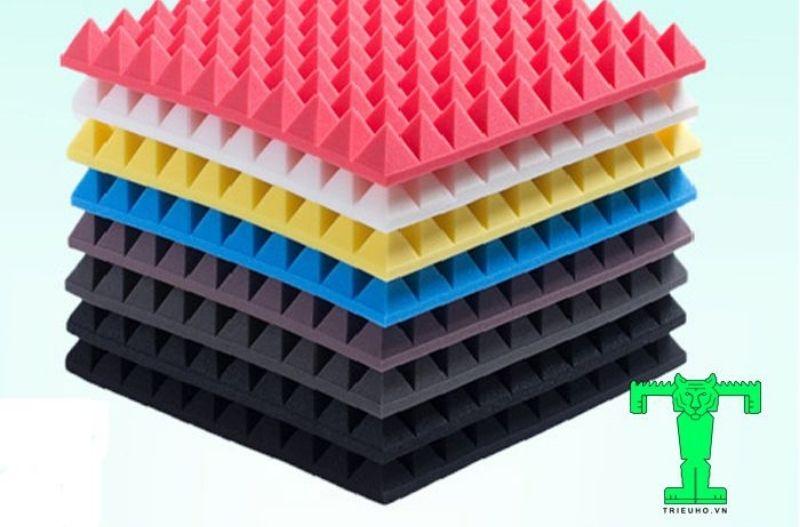 Vật liệu cách âm: Mút tiêu âm kim tự tháp