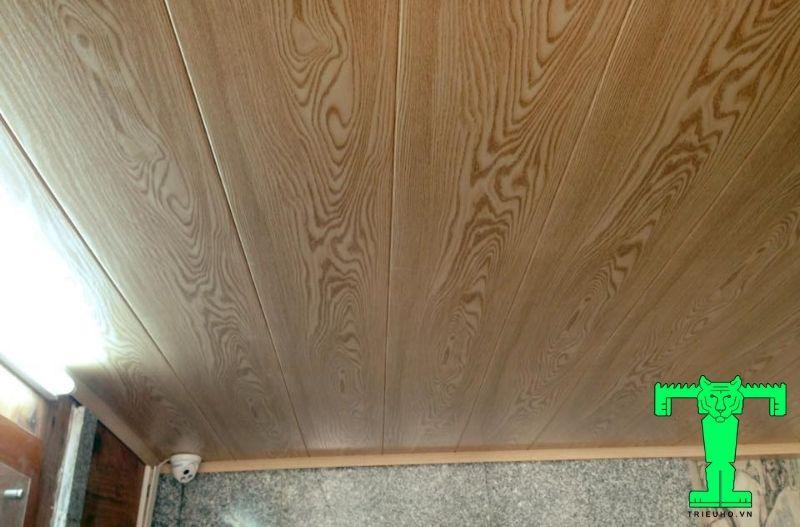 Mẫu 4- trần nhựa giả gỗ đẹp