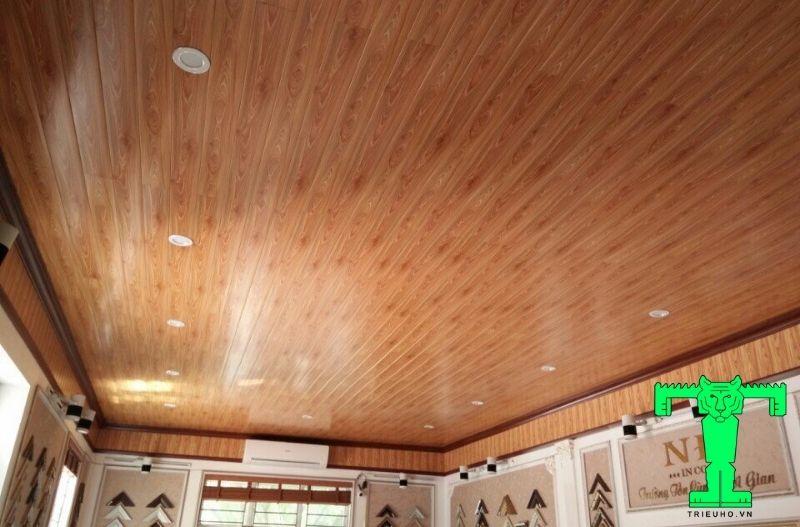 Mẫu 5- trần nhựa giả gỗ đẹp