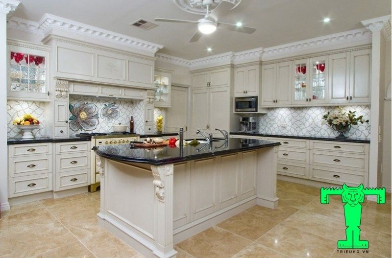 Mẫu 1 - trần đẹp cho phòng bếp