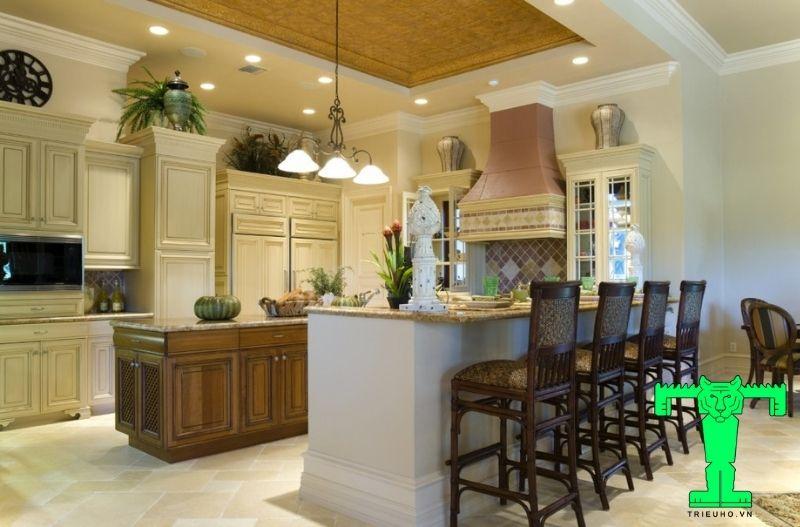 Mẫu 3 - trần đẹp cho phòng bếp
