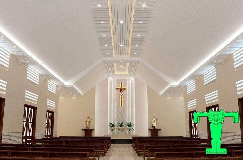 la phông cho nhà thờ giáo xứ Thái Hòa, Đồng Nai
