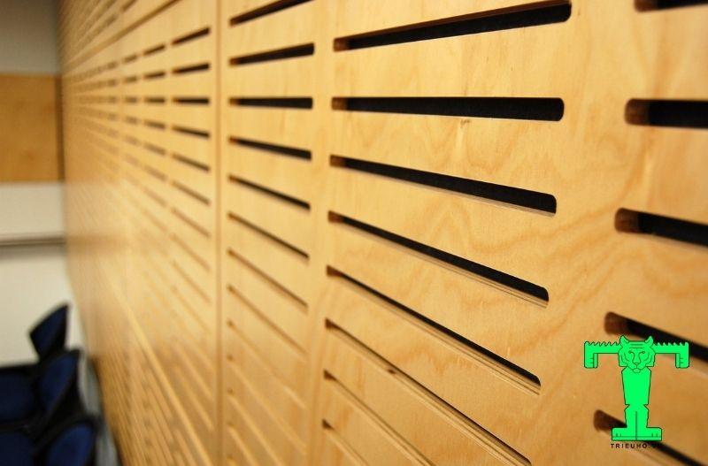 Tấm tiêu âm gỗ xẻ rãnh