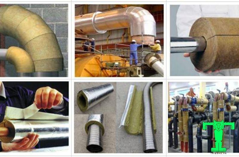 Ứng dụng bảo ôn đường ống với glasswool dạng ống định hình