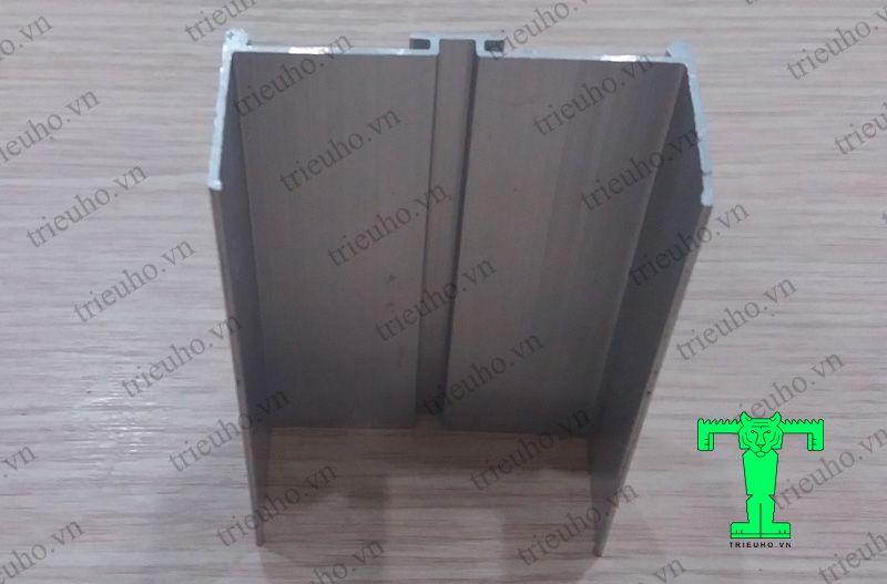 Thanh nhôm Usập kính dùng cho panel dày 50mm